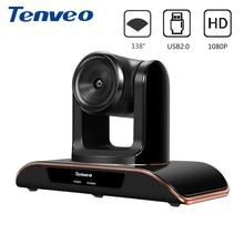 Tenveo VHD1080 Pro 8MP Full HD 1080 P PTZ камера USB веб-камера поддерживает H.264 и Amazon Chime Pan Tilt Zoom 138 градусов фиксированный фокус