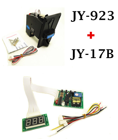 1 KIT of JY-923+JY-17B coin acceptor with timer board coin operated time control device for cafe kiosk for 1-3 kinds of coins schubert schubertsviatoslav richter piano quintet the trout