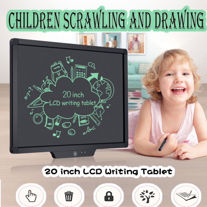 20 Inch LCD Writing Tablet Digital Drawing Tablet Smart Handwriting Pads Portable Graphics Message Notepad Doodling Lock Key