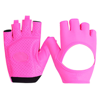 Female Gym Gloves Body Building Fitness Gloves Women PU Lycra Yoga Sport Fingerless Anti Slip Breathable