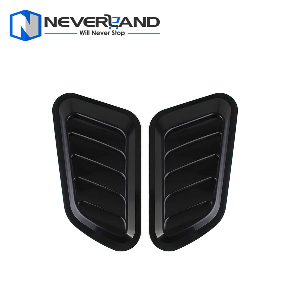 2 PCS Car Styling Stickers ABS Car Decorative Air Flow Intake Scoop Turbo Bonnet Vent Cover Hood For Mazda For Toyota For BWM frp fiber glass car styling hood bonnet lip chin valance fin add on tuning parts for nissan skyline r32 gtr gts