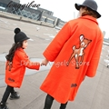Autumn Winter baby mom family matching clothes casual mother daughter dresses fashion family matching outfits Fawn jacket