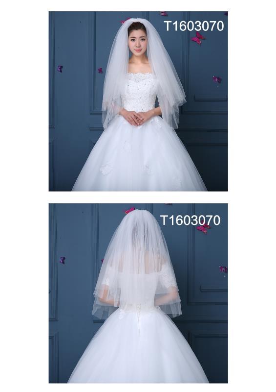 Free Shipping Real Photos 1.5M White/Ivory Wedding Veil Short Bridal ...