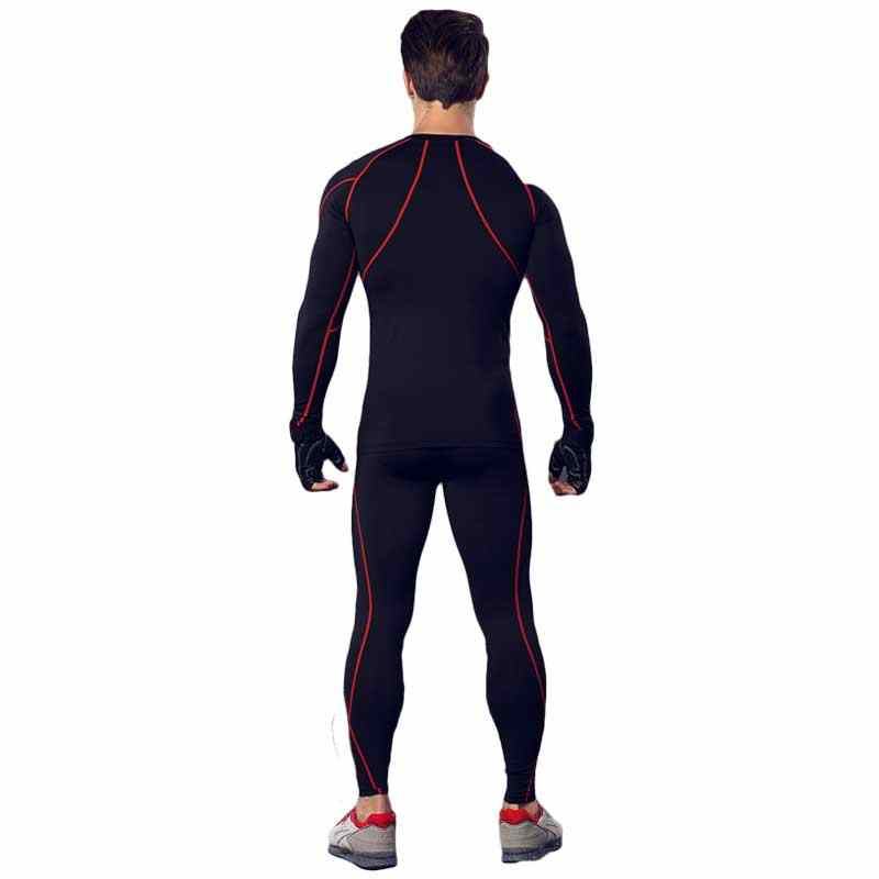 Men Pro GYM Fitness Compression Sets Quick Dry Legging + Top Workout Train Exercise Sport Yoga Pant+Shirt Run Yoga Clothing 3134