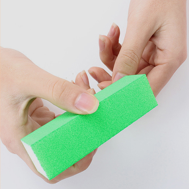 10pcs Bag Best Nail Buffer Block Fluorescent Color Polishing File