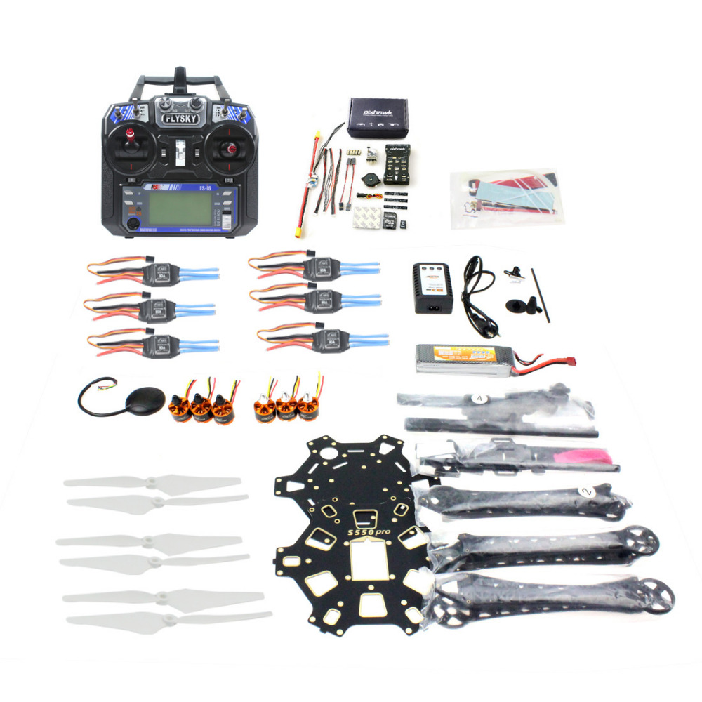 F08618-U DIY FPV Drone Hexacopter 6-axle Aircraft Kit HMF S550 Frame PXI PX4 Flight Control 920KV Motor GPS FS-i6 Transmitter dr michael mineiro u s commercial human space flight