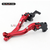 For MV Agusta Brutale 675 2012-2016/ Brutale 800 2013-2015 Motorcycle Adjustable Folding Extendable Brake Clutch Lever Red