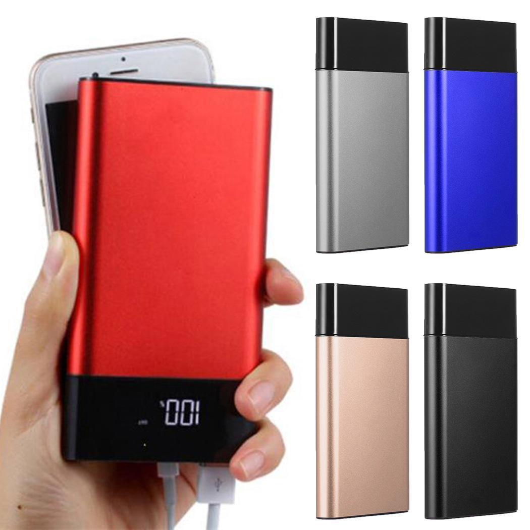 Banco de energía USB Dual 30000 mah ultradelgado portátil de energía LCD pantalla LED pantalla Digital cargador de emergencia General