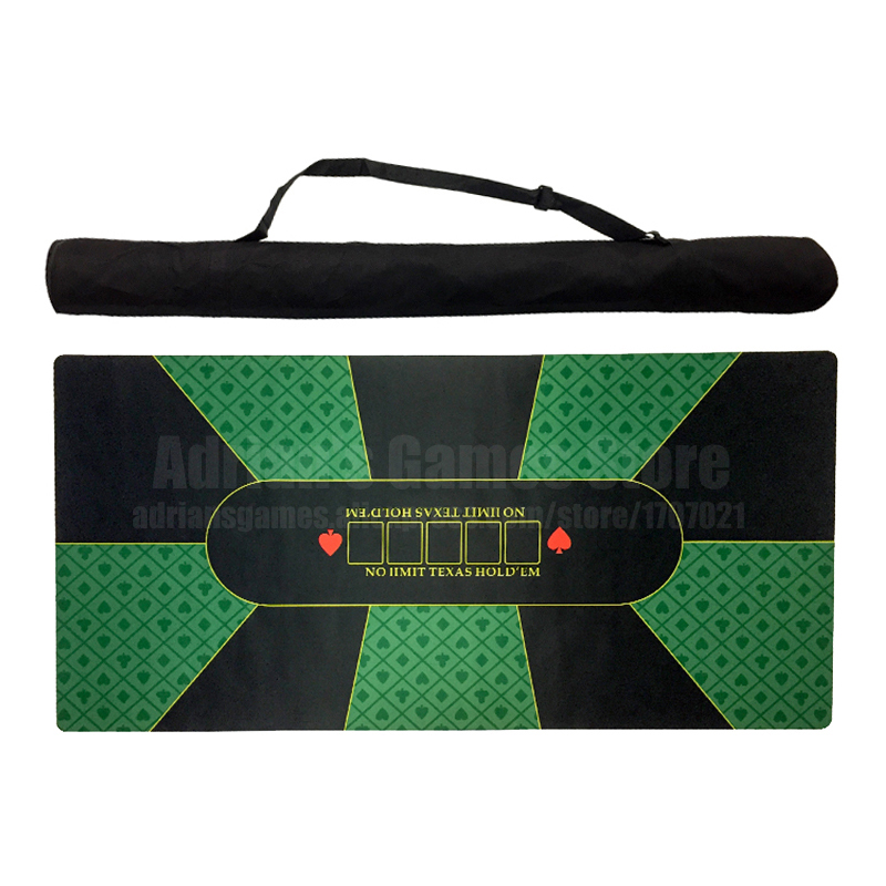 180 90cm Classic Green Rubber Poker Table Layouts 10 Players Texas Hold em Poker Table Cloth