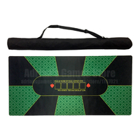 180*90cm Classic Green Rubber Poker Table Layouts 10 Players Texas Hold'em Poker Table Cloth Poker Mat Tapis