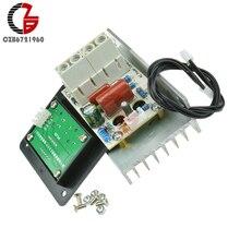 AC 220V 10000W SCR Motor hız kontrol regülatörü regülatörü voltaj regülatörü Dimmer termostat LED ekran Fan LED ışık