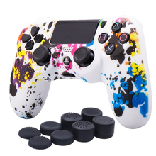 Soft Silicone Thumbstick Caps Rubber Joystick Gamepad Grips Case Cover for Sony DualShock 4 PlayStation4 PS4 Slim Pro Controller