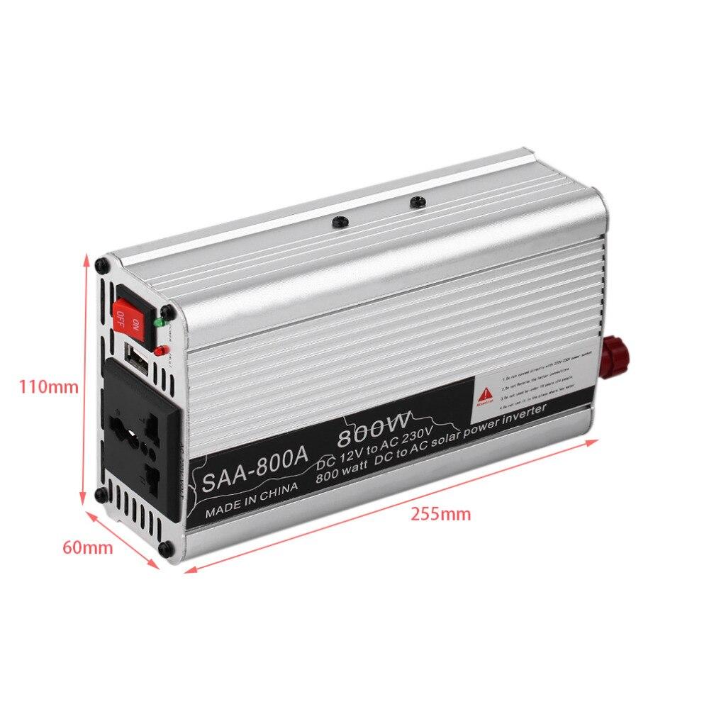Hot SAA 300/400/500/600/800/1000/1200/1500W Inverter Car Vehicle Voltage Inversor DC12V To AC220V Power Inverter Adapter