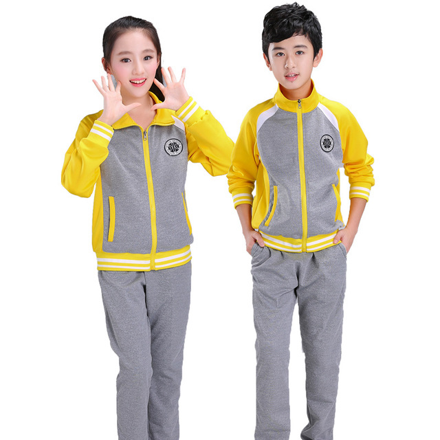 2017 New Spring Girls Sports Suit Children Clothing Sets Kids Sportswear Big Boys Jacket & Pants Tracksuits 5-17 Y DQ228