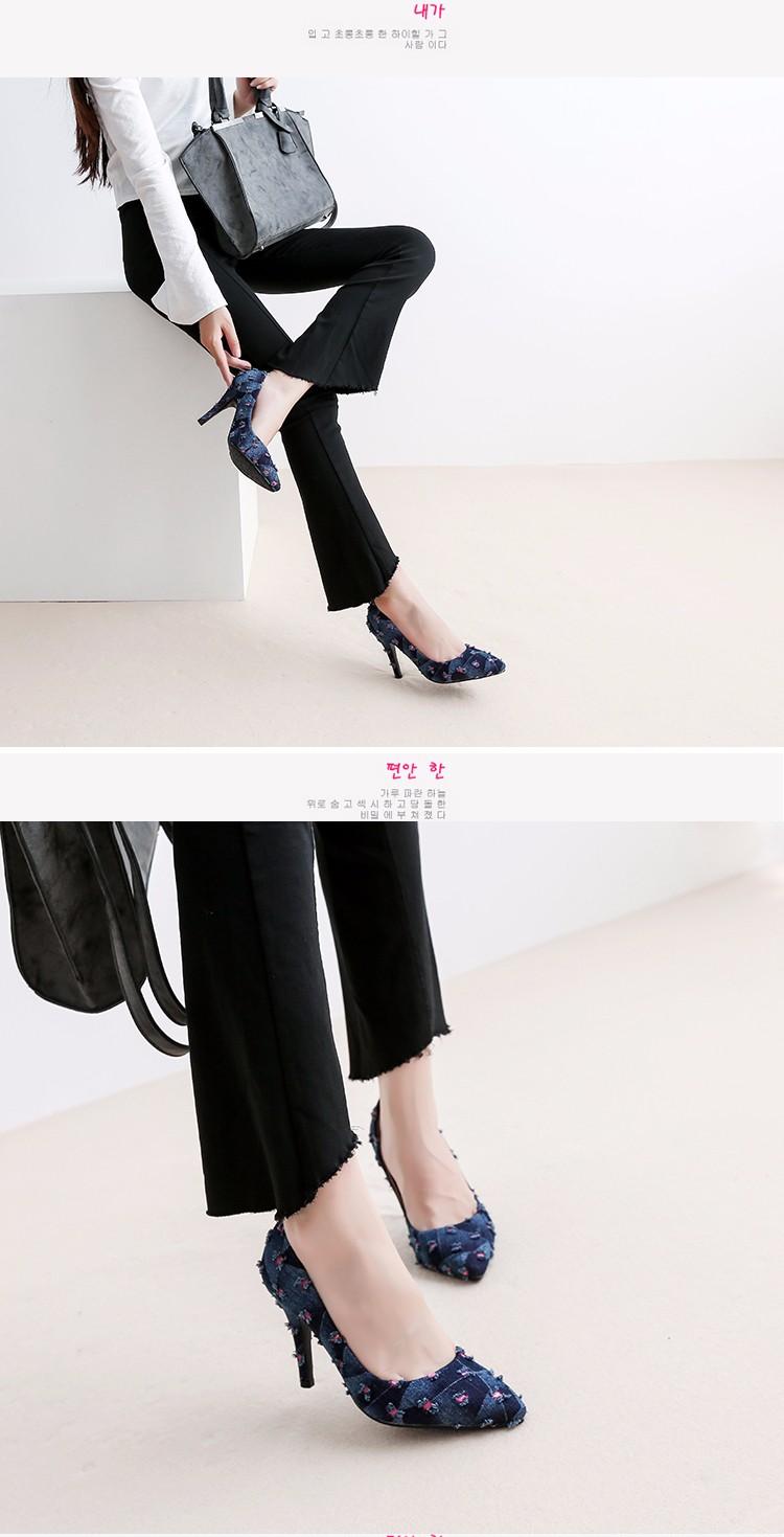 New arrival Denim Ladies Shoes pointed toe high heels Free Shipping! HTB1yu4mSFXXXXc5XXXXq6xXFXXX9