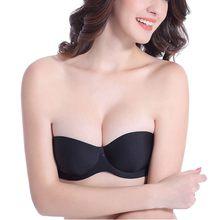 0d7799e05c Strapless Bra Push Up Brasier Mujer Sticky Bra Plus Size Women Underwear  Transparent Invisible Bra for