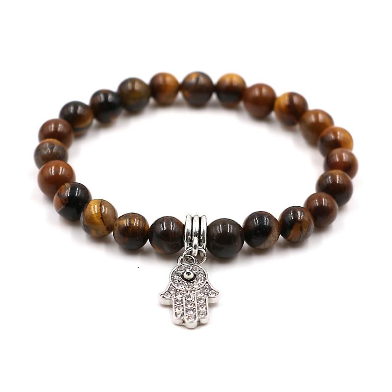 Pulseira masculina Natural Stone bracelet men jewelry hand pendant Elasticity Yoga Lava Stone Beads bracelets Fashion Jewelry