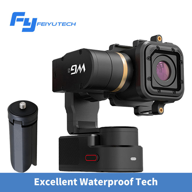 FEIYU WG2 GOPRO 3 4 5 Sessio 3 axis WaterProof Wearable gimbal stabilizer video Extreme Sports bike action camera 3-axis Gimbal fpv 3 axis cnc metal brushless gimbal with controller for dji phantom camera drone for gopro 3 4 action sport camera only 180g