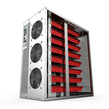 PC Case USB Miner Server Rack Ethernet Graphics Frame 6-8 GPU Card Industrial Horizontal ATX Dual Power Supply bit Chassis server computer case 3u380mm belt butterfly lock 1 2 thickening 380mm short chassis support pc power supply