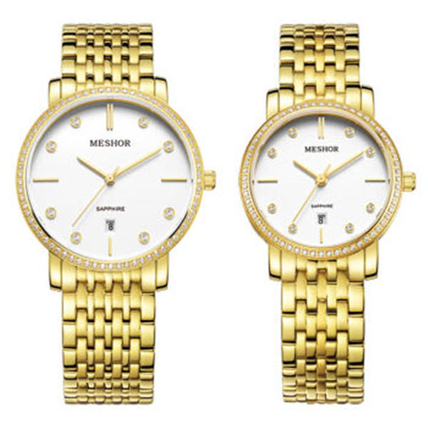 (MESHOR) fashion leisure steel watch with a quartz couples MS.5018M.26.127 / MS.5018L.26.127