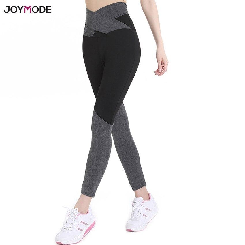 JOYMODE Women High Waist Pants Yoga Push Up Cross Belt Dance Compression Socks In Running Leggings Skinny Sports Fitness Pants