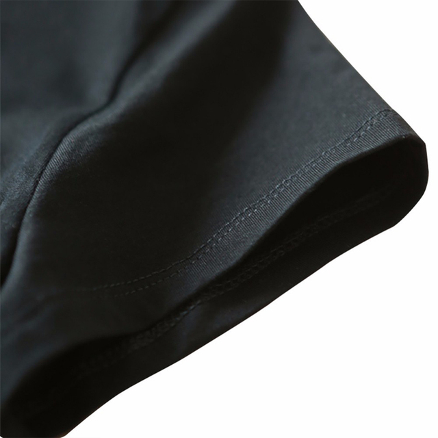 La MaxZa Women Tops Casual Dinosaur Monster Pattern Printing Black Tops Fashion Ladies Short Sleeved O-Neck T-Shirt 201005