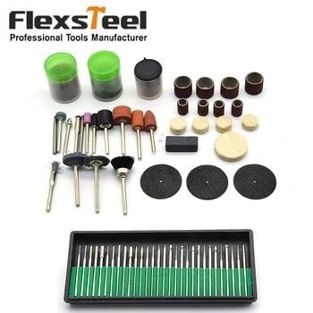 цена на 30pcs Diamond Burrs Drill Bit Set+105pcs Rotary Tool Power Tools Accessories Kit Dremel Fits Drilling Sawing Grinding Polishing
