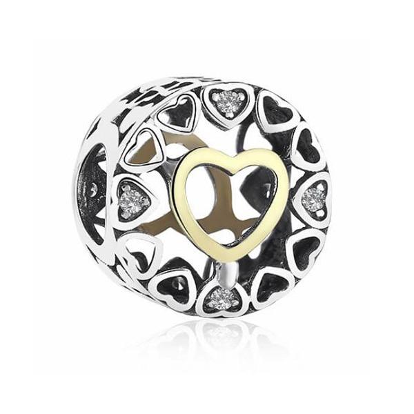 сердце necklac ожерелье; очарование DIY; бусина Пандора; ремесло DIY;