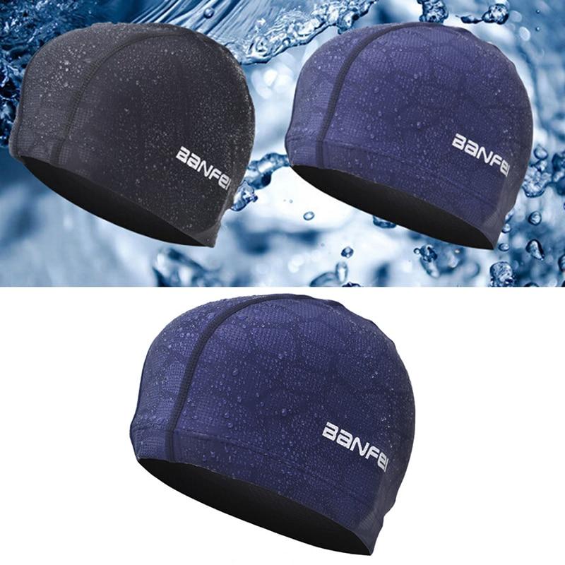 Gorro de piscina impermeable para hombre y mujer, gorro de piscina deportivo resistente al agua con orejas, Flexible y duradero