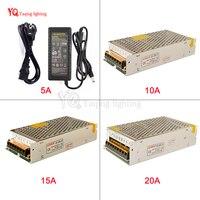 12 V Anahtarı LED Güç Kaynağı Transformers AC100-240V DC12V 5A 10A için 15A 20A kapalı 3528 5050 5730 led şerit için güç kaynağı