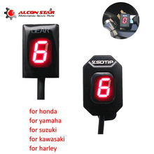 Buy Alconstar- 1-6 Level Motorcycle Ecu Plug Digital Speed Gear Indicator Display with Holder for Honda for yamaha for kawasaki directly from merchant!