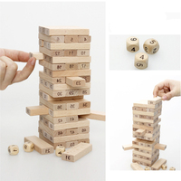 50PCS 2 Style Children Kids Wooden Domino Games Toys Number Building Blocks Early Educational Toys Gifts For Baby Bebe Boys Girl