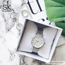 SK Super Slim Sliver Watch
