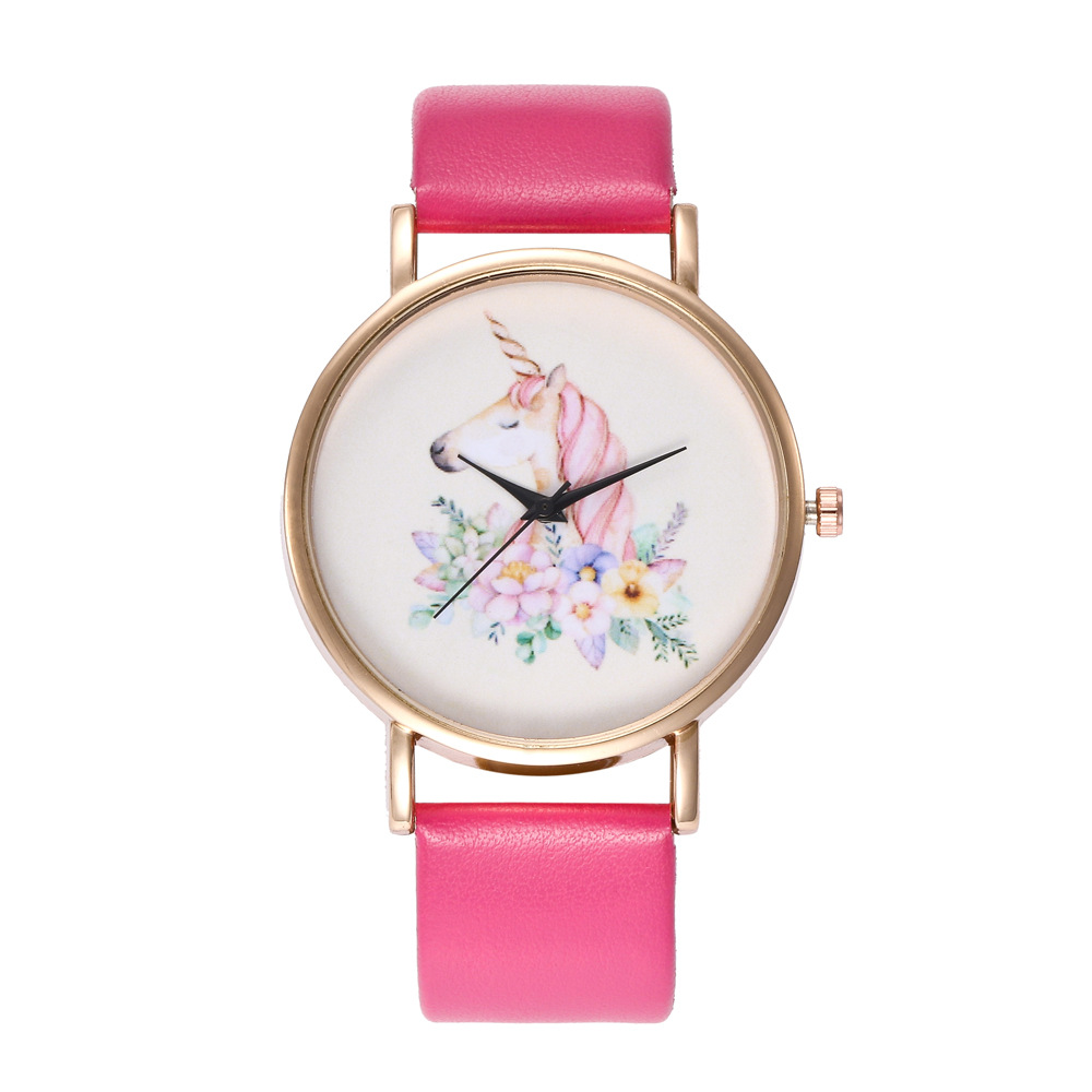 2018 Fashion Style Colorful Flower Leather Watch Strap Women Quartz Watch все цены