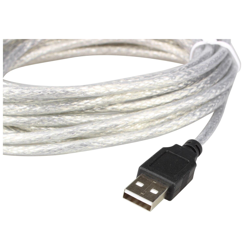 Calvas Hot 5m USB 2.0 Active Repeater Cable Extension Lead