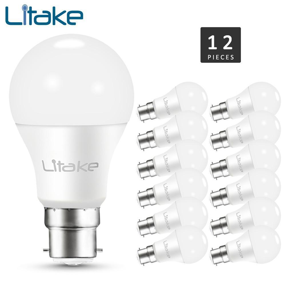 Litake 12 упакованы B22 базы светодиодный свет лампы нерегулируемых 100 Вт эквивалент (11 Вт), ЧРИ 80 + для дома Гостиная украшения
