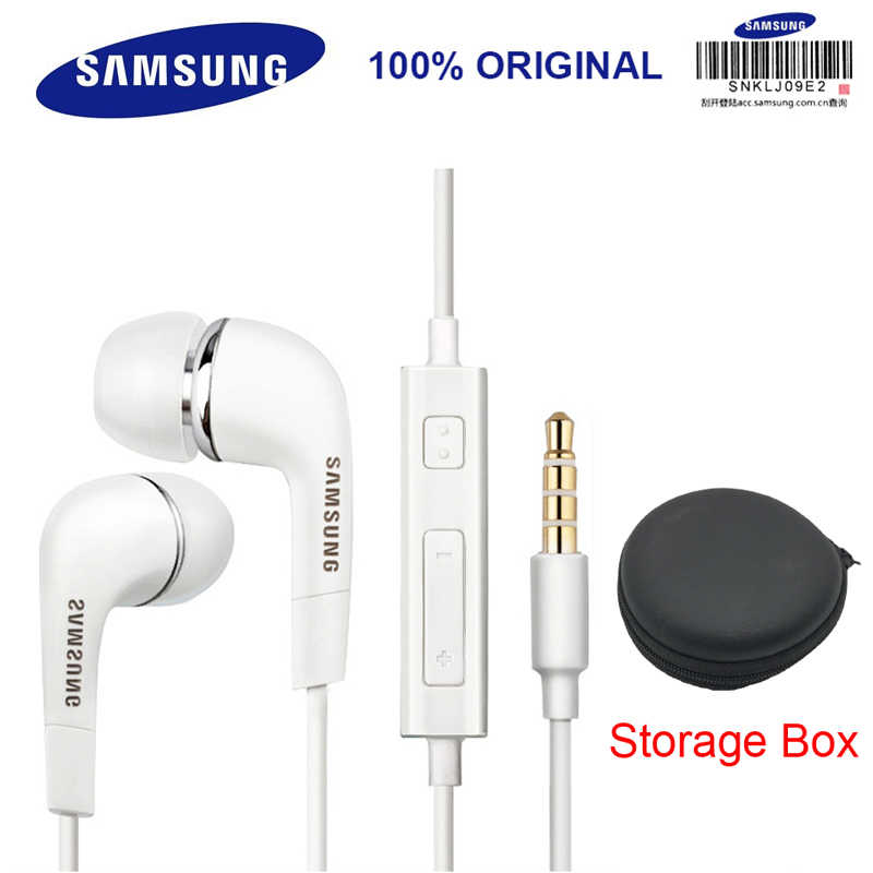 SAMSUNG EHS64 Earphone Headset dengan Built-In Microphone 3.5mm In-Ear Earphone Kabel untuk Smartphone/Komputer Tes Resmi