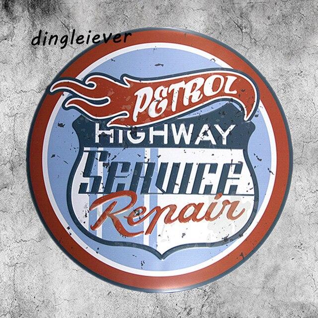 Garage Signs For Men : Highway racing vintage metal sign hot rod posters garage