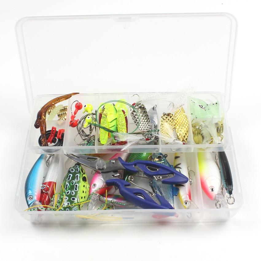 77pcs/box Fishing Lures Kit Mixed Minnow/VIB/Frog/Soft Bait/Accessories Fishing Tackle super value 101pcs almighty fishing lures kit with mixed hard lures and soft baits minnow lures accessories box