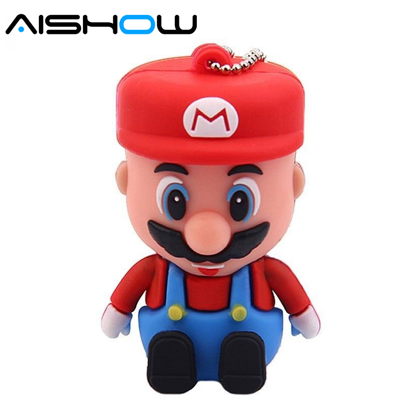 Super Mario USB ֆլեշ սկավառակ նվերներ գրիչ - Արտաքին պահեստավորման սարքեր - Լուսանկար 1