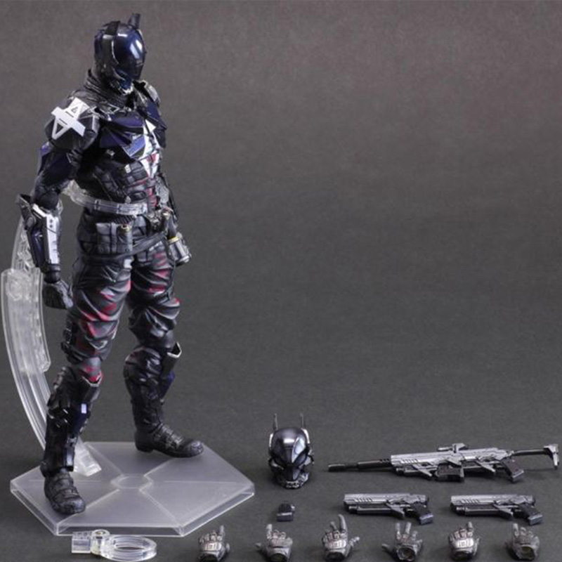 ZXZ Batman NO.1 Arkham Knight Action Figure Play Arts Kai  PVC Collectible Model PlayArts KAI batman Doll 27cm batman joker action figure play arts kai 260mm anime model toys batman playarts joker figure toy