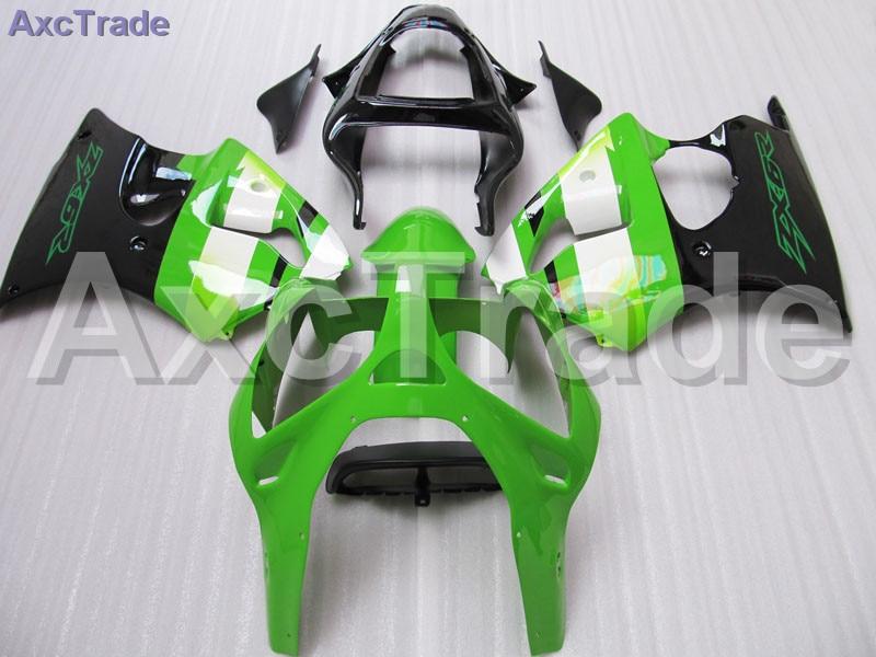 цены Custom Made Motorcycle Fairing Kit For Kawasaki Ninja ZX6R 636 ZX-6R 2000 2001 2002 00 01 02 ABS Fairings fairing-kit Green C307