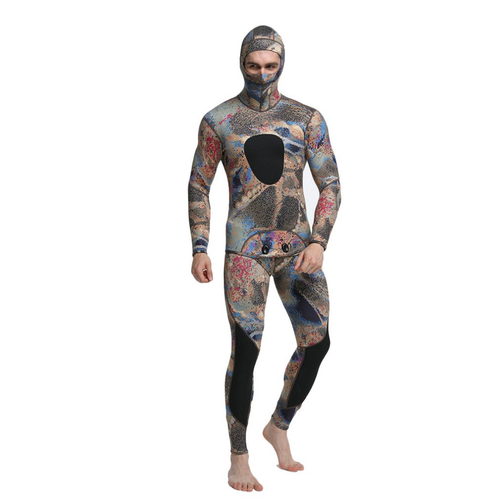 2PCS Men Diving Suit Neoprene 3mm Spearfishing Wetsuit Surf Snorkel Swimsuit Split Diving Suits Surf Camouflage Clothing 2017 long sleeves swimwear rashguard surf clothing diving suits shirt swim suit spearfishing kitesurf men rash guard