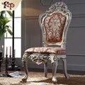 Роскошная мебель италия дизайн-твердая древесина лист позолота столовая кресло антикварная мебель