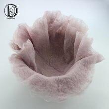 D & j  новинка ручная работа 100% шерсть войлочное круглое одеяло