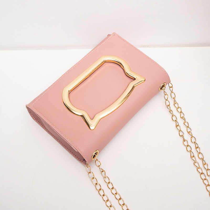 Bolso de hombro para mujer 2019 nuevos bolsos de lujo bolsos de diseñador para mujer pequeñas bolsas de dibujos animados de gato con solapa bolsa de mensajero saco A principal