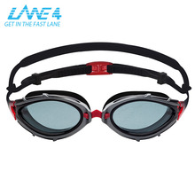 LANE4 Racing Swim Goggle Anti-fog Coating Curved Lenses UV Protection Lightweight glasses for Adults A346