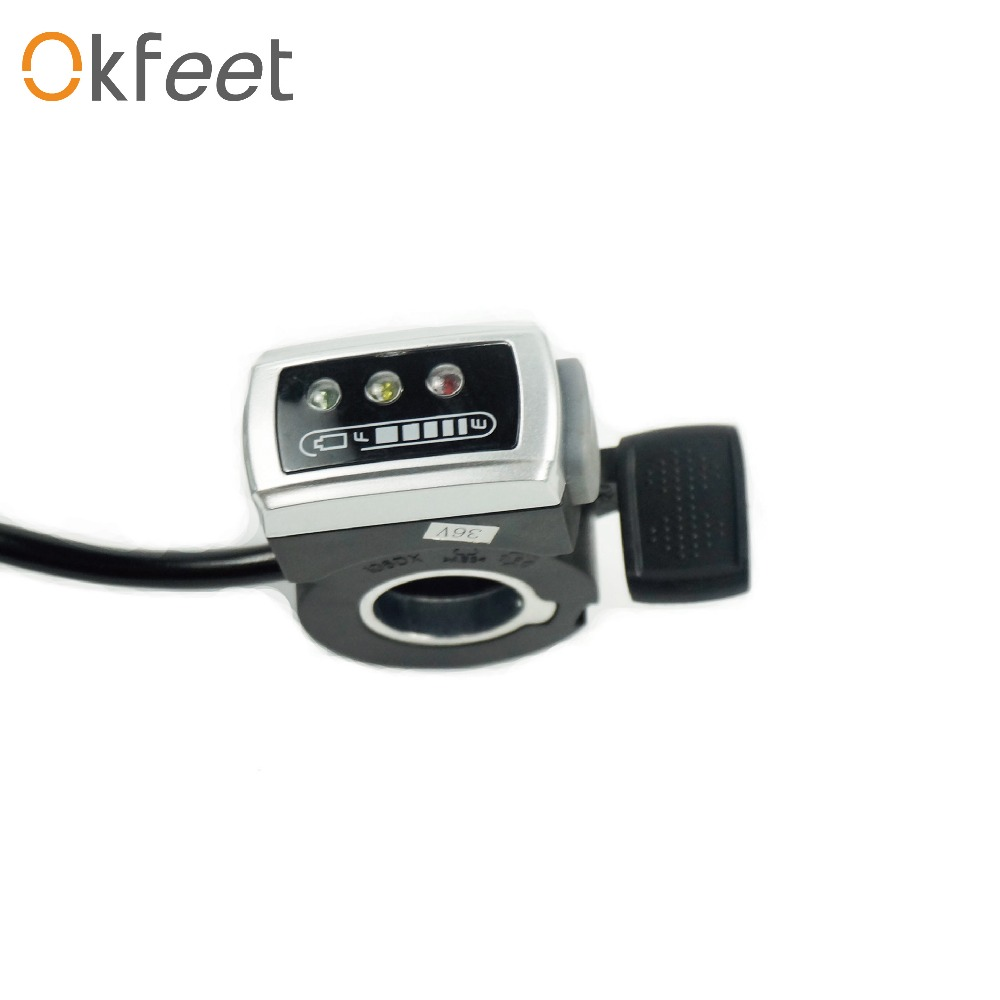Okfeet ebike throttle 106DX twist throttle For Electric Bikes Mountain Bicycle Part & Accessories free shipping
