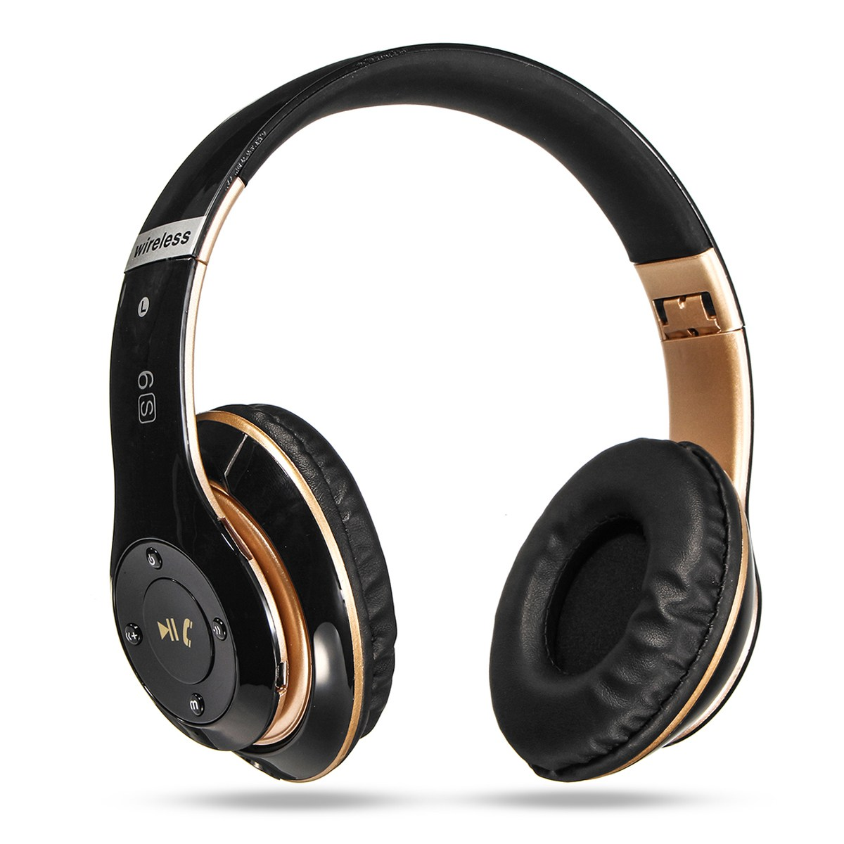 Color 6S 3.5MM Headset Wireless Bluetooth Headphone Stereo Heavy Bass Earphones Ultimate TF Card Slot Chargable Folding Headset ks 509 mp3 player stereo headset headphones w tf card slot fm black