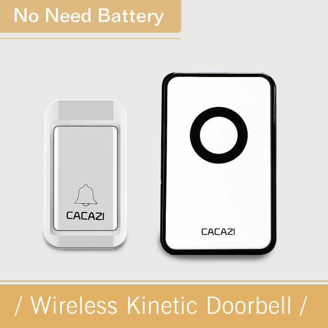 cacazi new electronic no battery need wireless doorbell waterproof door bell wireless ac220v remote control home